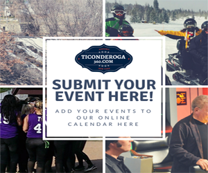 Submit your event to Ticonderoga360.com for free